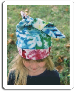 Hand dyed tie dye hats